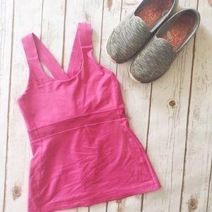 Lululemon got pink cross back workout tank